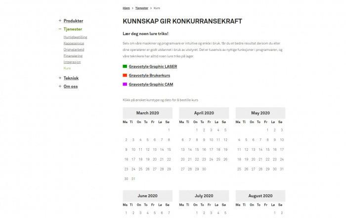 <span>Kalendarz</span> kursów