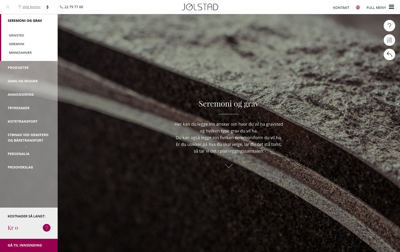 Plan your funeral form - Wordpress custom development